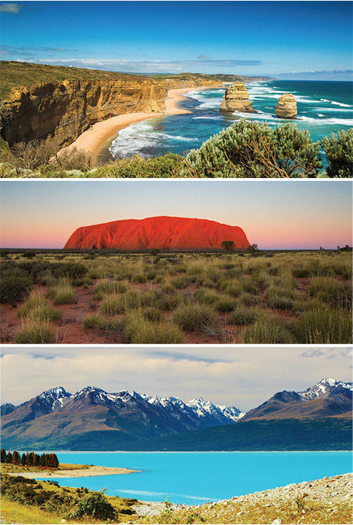 The best self-drive holidays in Australia and New Zealand.
