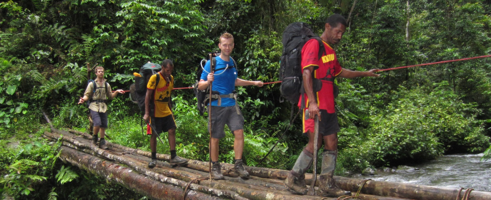 On the Kokoda Base Camp Trek with Joe Bonington