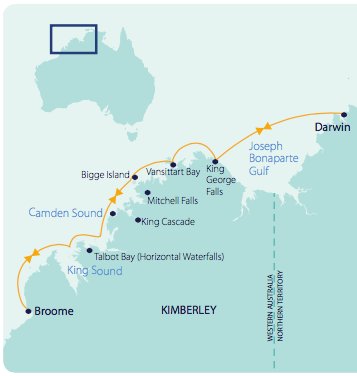 Kimberley Coast map
