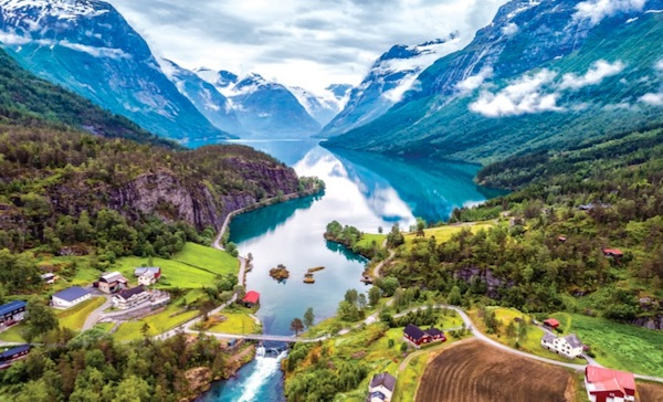 Lovatnet Lake, Norway