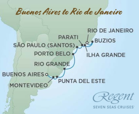 Travel Masters' South America Cruise Map