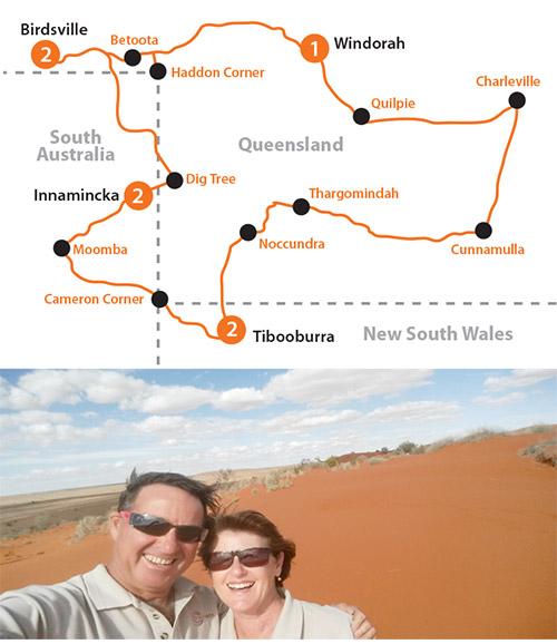 Explore the outback with Graham and Deb.