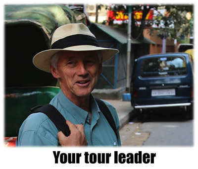 Your expert tour leader, Mike Taverner, is an experienced group leader and enthusiastic walker.
