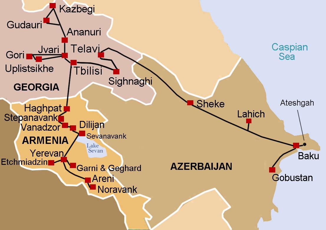 South Caucasus – Azerbaijan, Georgia & Armenia by Byroads ...