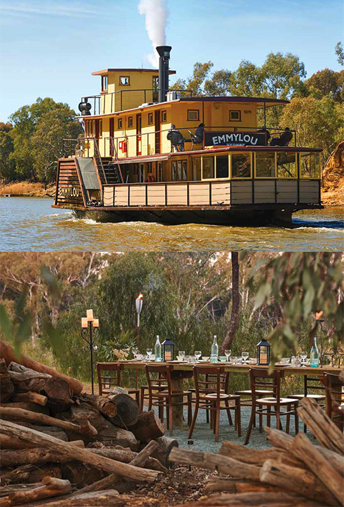 Cruise the legendary Murray River on an athentic paddlesteamer.