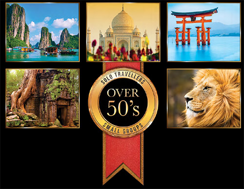 Tours designed specially for solo travellers over 50